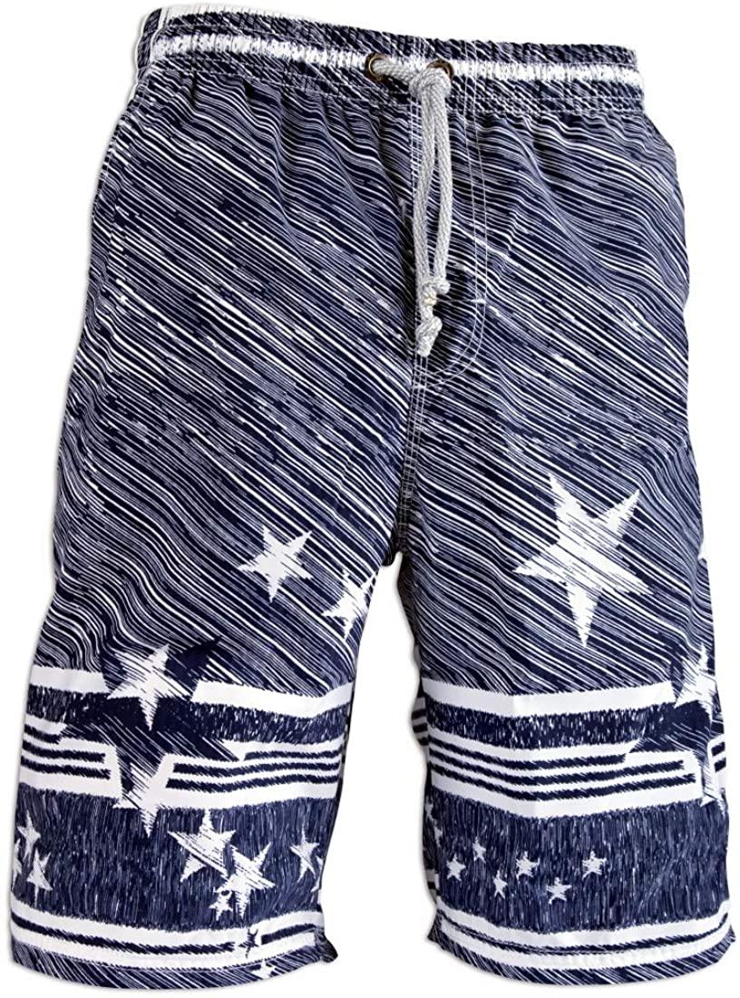 Prefer To Life Mens Board Shorts, Quick Dry Swimwear Beach Holiday Party Bermuda Swim Big Pants