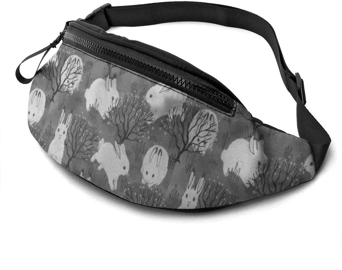 Rabbit And Prairie Fanny Pack For Men Women Waist Pack Bag With Headphone Jack And Zipper Pockets Adjustable Straps