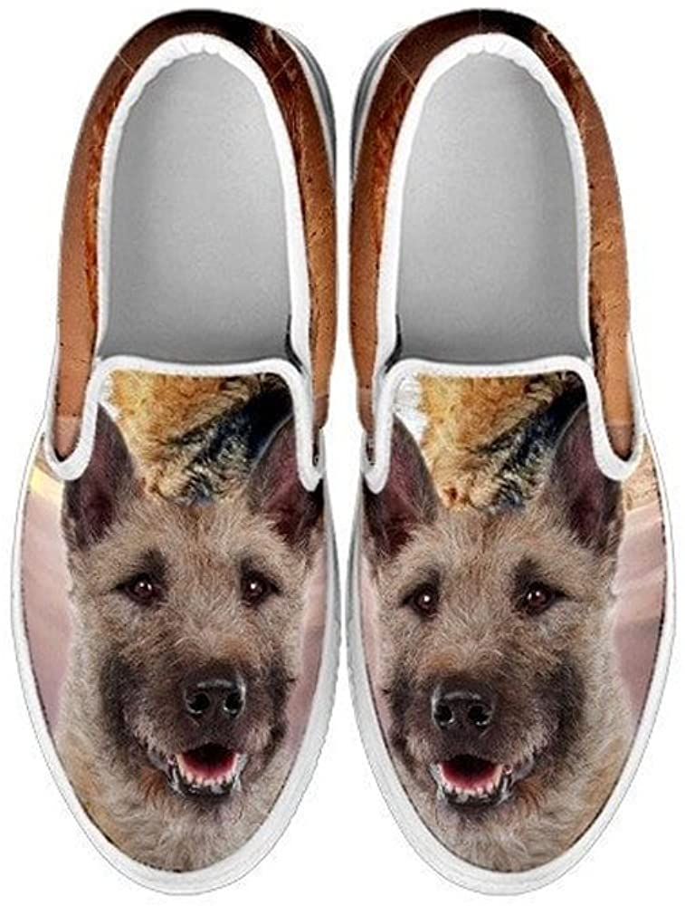 Kids Slip Ons-Lovely Dogs Print Slip-Ons Shoes for Kids (Choose Your Pet Breed) (2 Youth (EU33), Laekenois)