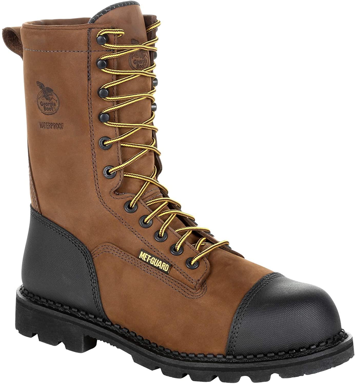 Georgia Boot Men's Drill Dog Steel Toe Metatarsal Waterproof Work Boot-GB00323 (M13) Dark Brown