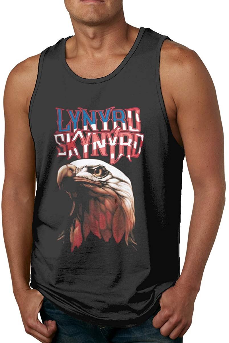 Gjfauehf Man L-Y-N-Y-R-D Skynyrd Men's Cotton Sports Vest, Worn Outside Or Inside