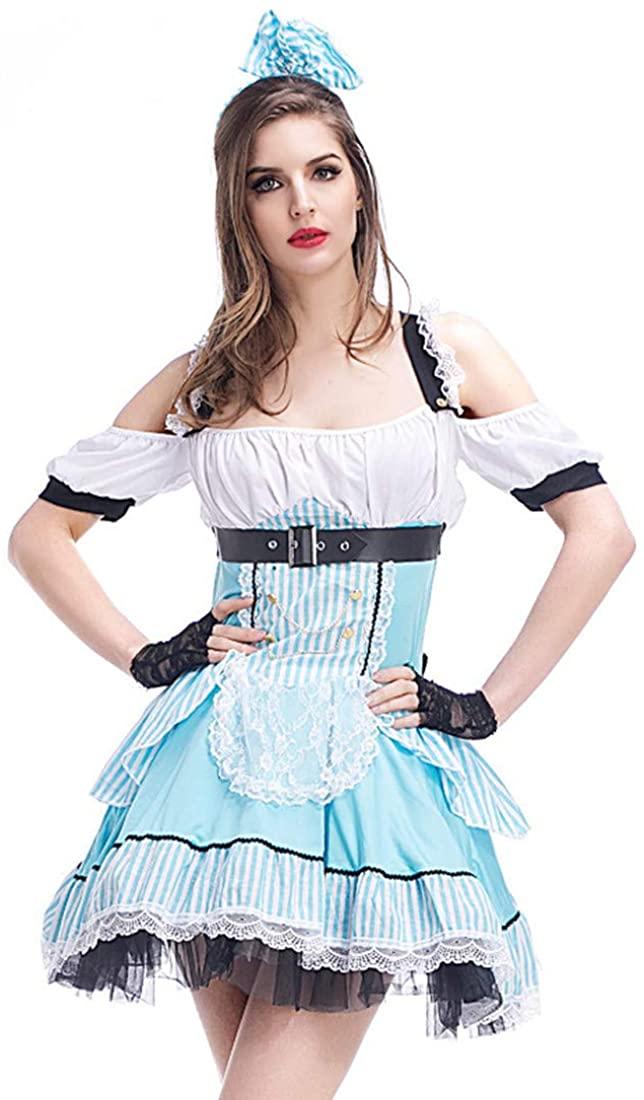 Alice Fairy Maid Uniform Set Halloween Princess Fairy Tale Costume Stage Dress