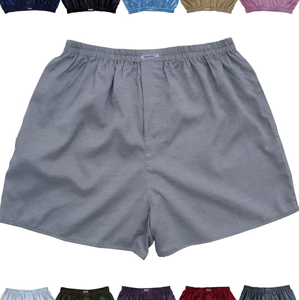New Silk Boxer Shorts Sleepware Men's Underwear Size M L XL XXL