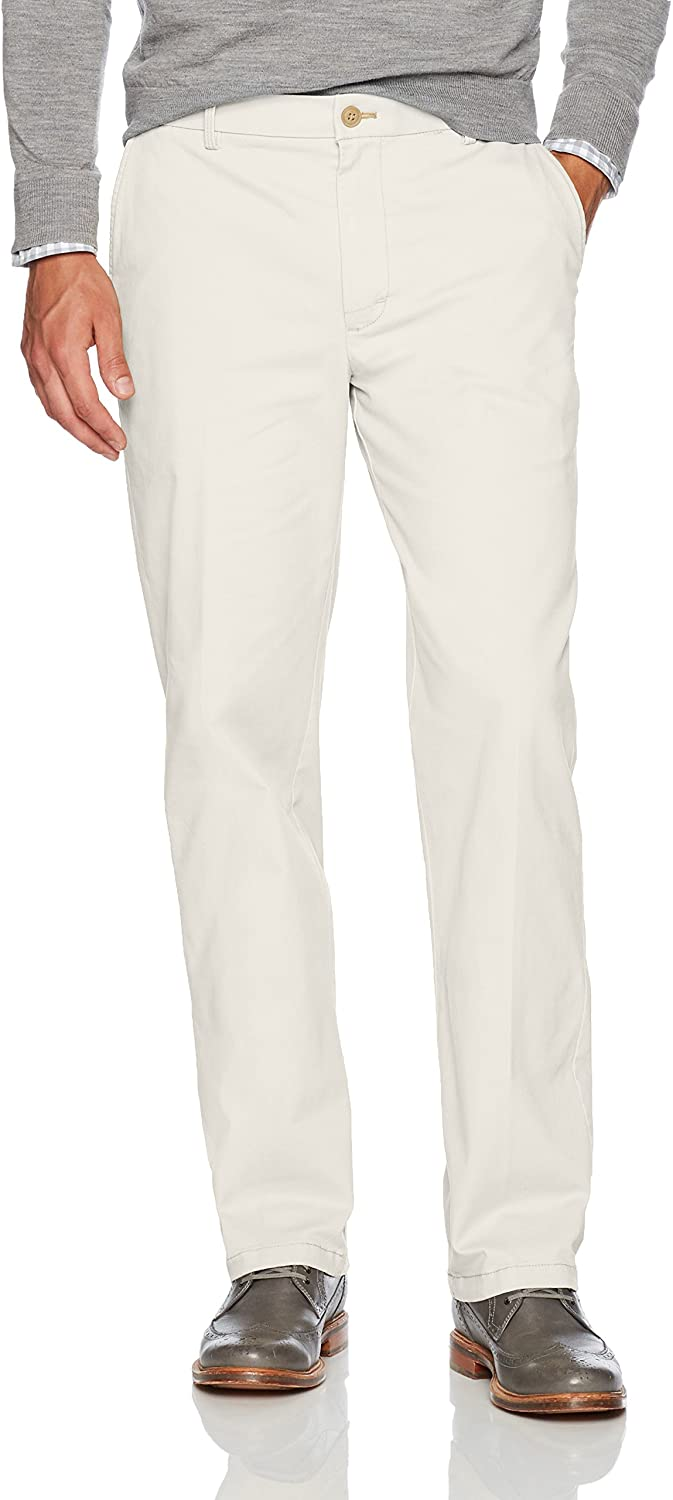 IZOD Men's Saltwater Stretch Flat Front Straight Fit Chino (Discontinued by)