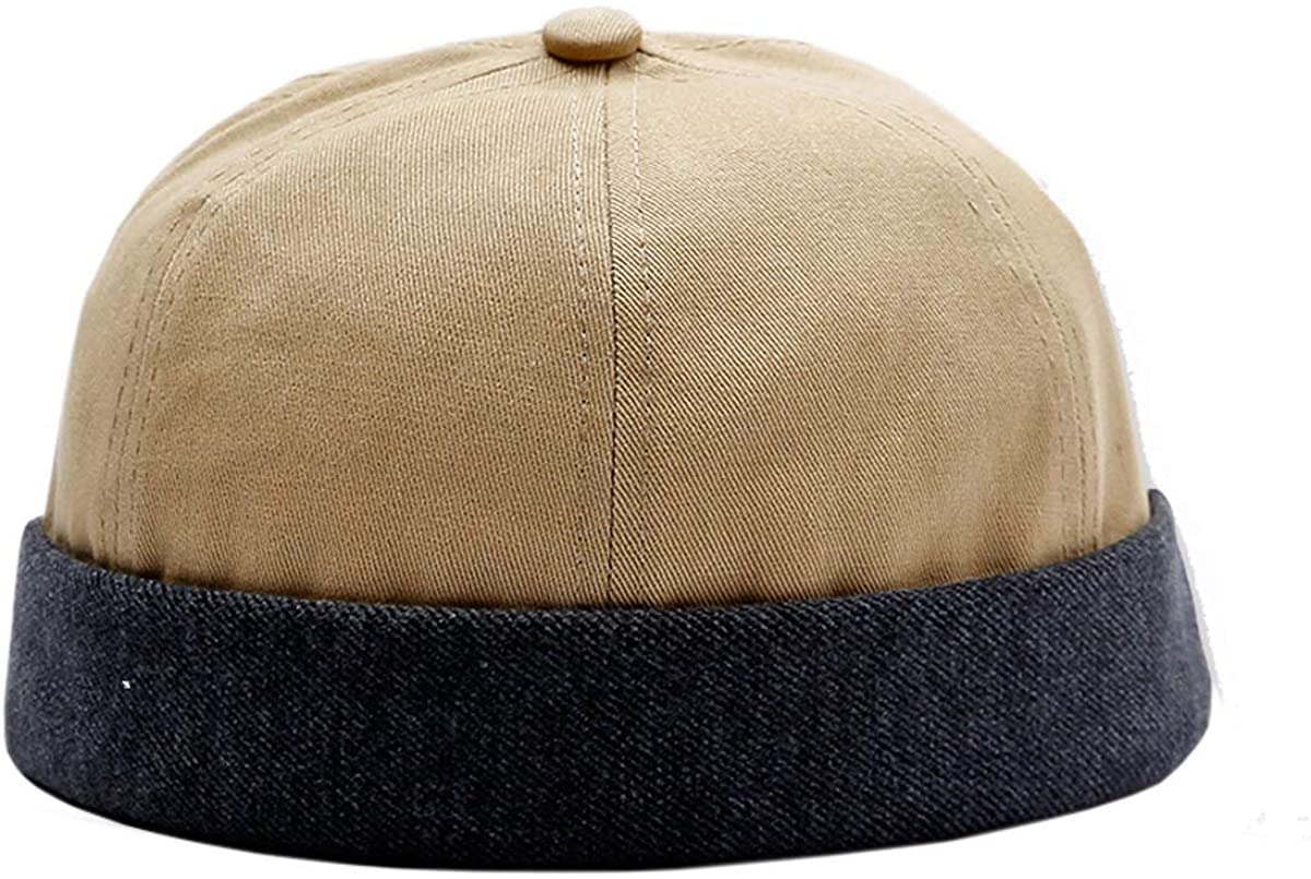 Mongous Mens Cotton Sailor Skull Cap Harbour Hat Retro Brimless Beanie Hat