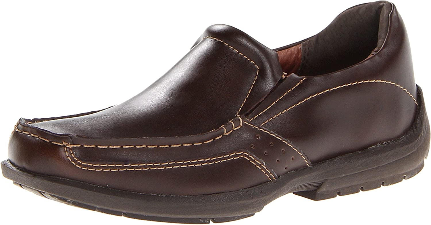 Jumping Jacks Kids Boy's Overdrive II (Toddler/Little Kid/Big Kid) Dark Brown Leather Loafer 33 (US 1-1.5 Youth) M