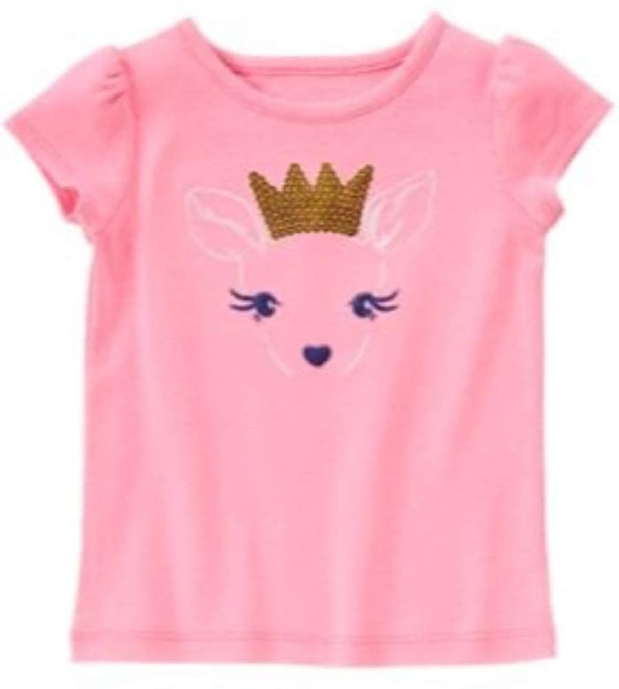 Gymboree Girls' Toddler Deer with A Crown Tee