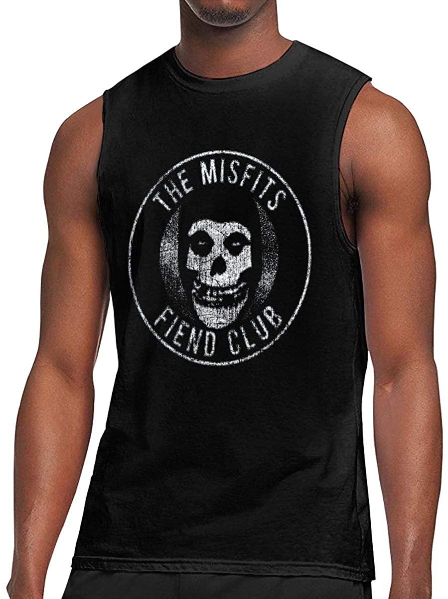 Awqule Misfits Sleeveless T-Shirt Sports Men's Muscle Breathable Lightweight T-Shirt