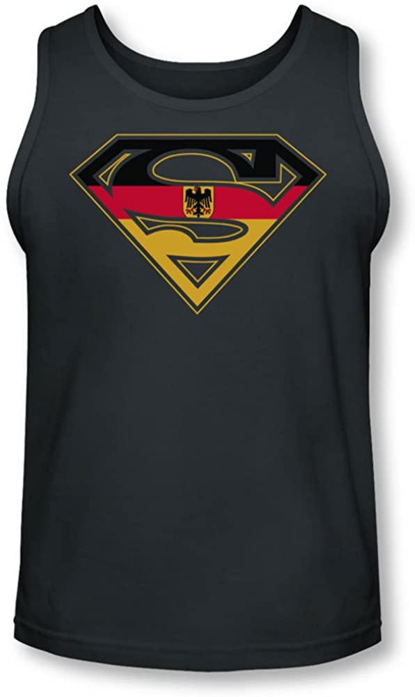 Superman - Mens German Shield Tank-Top