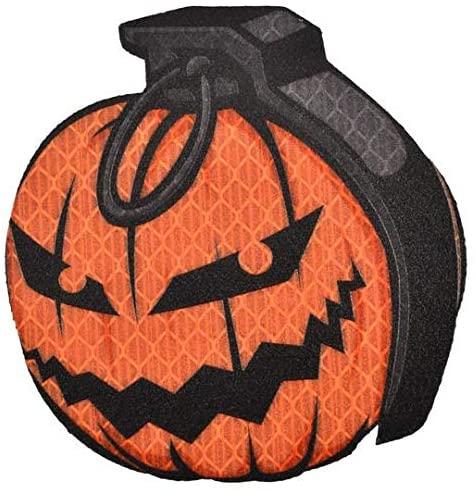 Reflective Pumpkin Grenade - 3 inch Printed Morale Patch