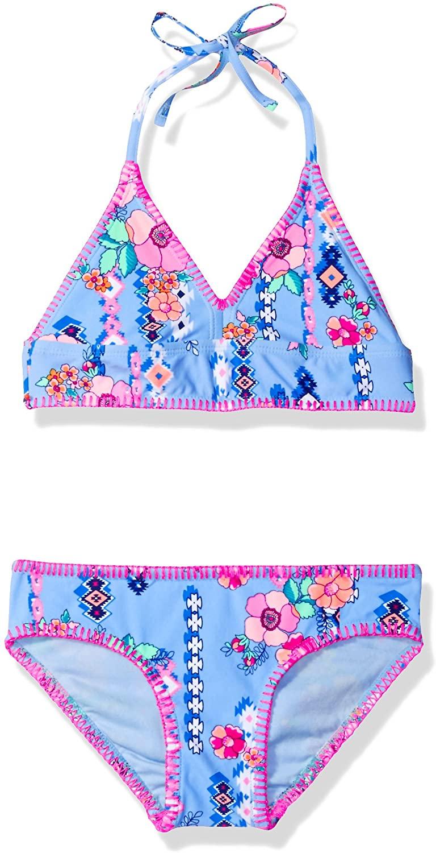 Gossip Girl Big Gypsy Flower Two Piece Bikini Swimsuit