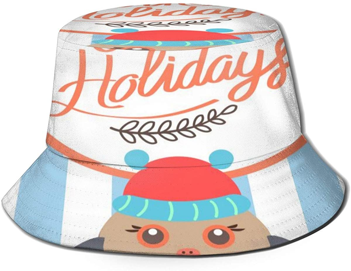 Bucket Hats for Teens Unique Happy Bullfinch Beach Bucket Hat, Uv Bucket Hat, Foldable Sun Bucket Hat, Fisherman Hat