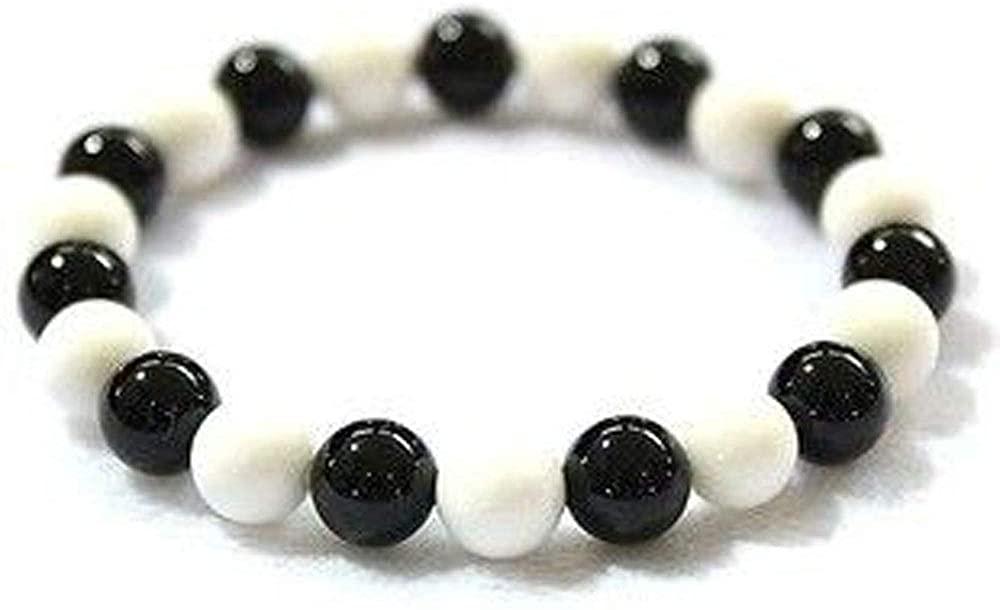 joywanna Fruits Basket Souma Kyo Cosplay Accessoy Props Bracelet Tridacna Black and White Beads Jewelry