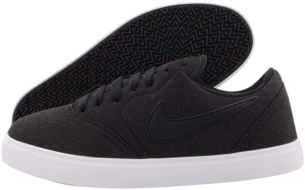 Nike SB Check CNVS (GS) Boy's Shoes Size 4 Black