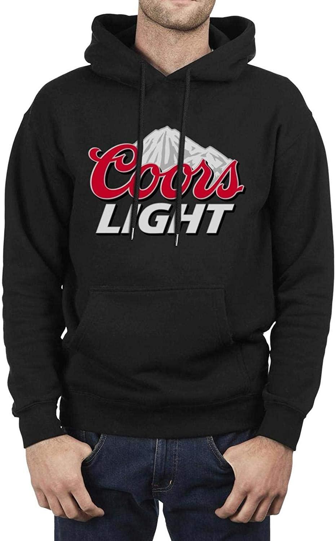 Winter Drawstring coors-Light-Logo- Personality Man Pullover Hoodie Black