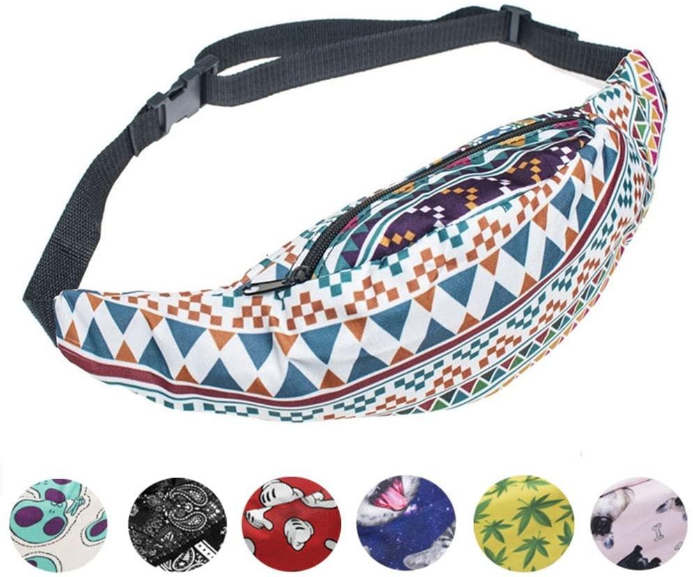 whatUneed Sports Hiking Running Belt Waist Bag,Fashion Travel Fanny Bag Super Lightweight for Travel Waist Pack