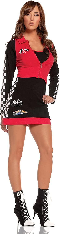 Zabeanco Sexy Woman's Race Car Driver Mini Dress Costume