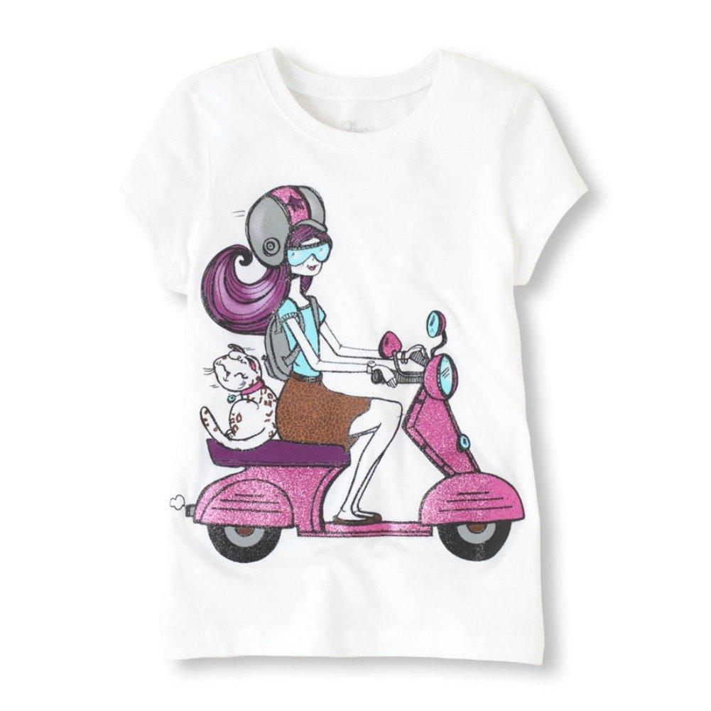 Fashion Girl on Vespa Graphic Tee (S (5-6))