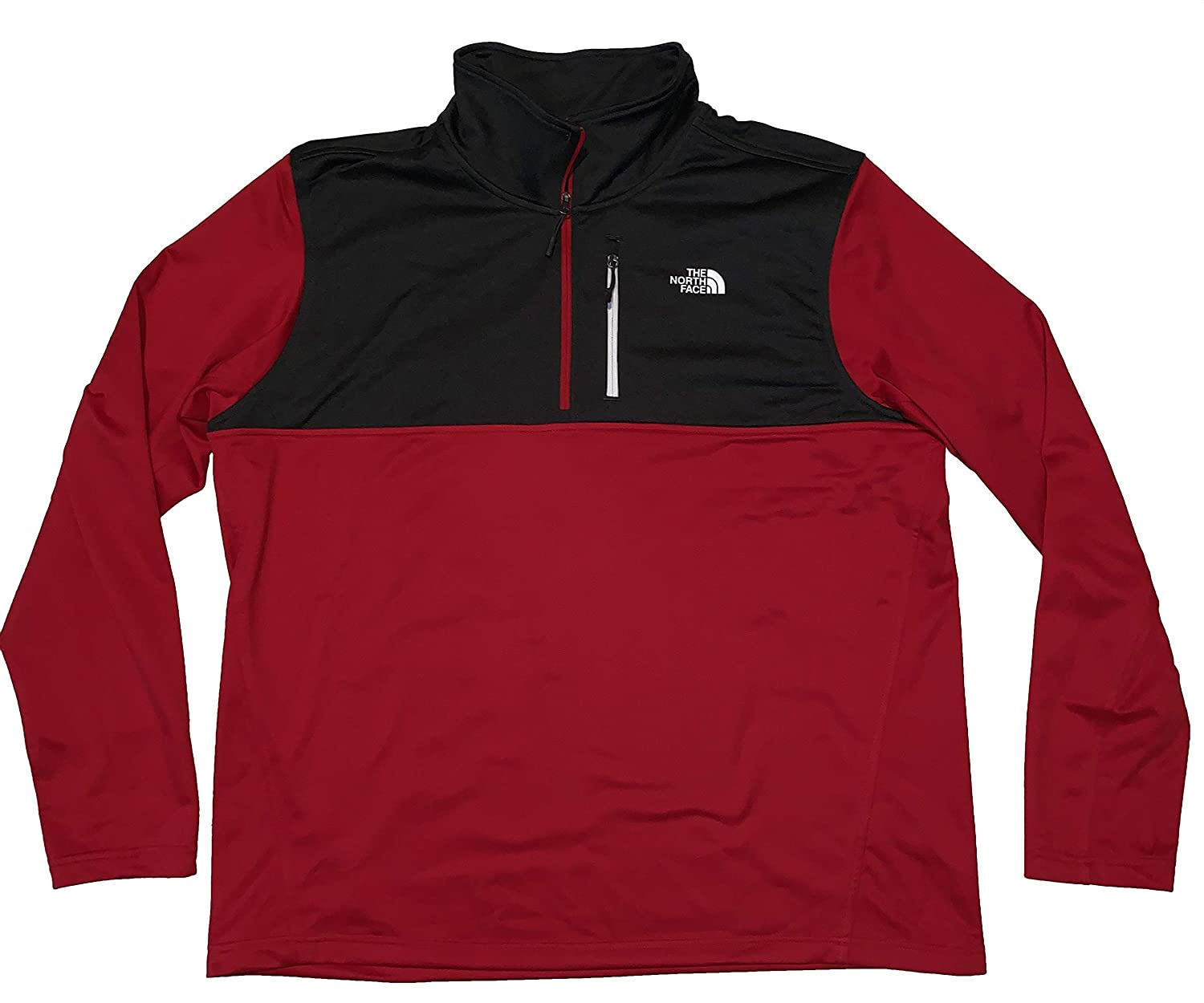 The North Face Men's Standard Fit 100 Cinder Quarter Zip Fleece Lined Long Sleeve Pullover (Red, X-Large)