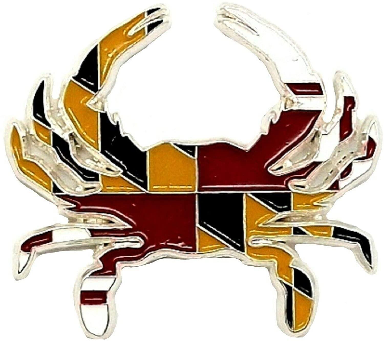 Maryland Flag Design Crab Hat Tac or Lapel Pin