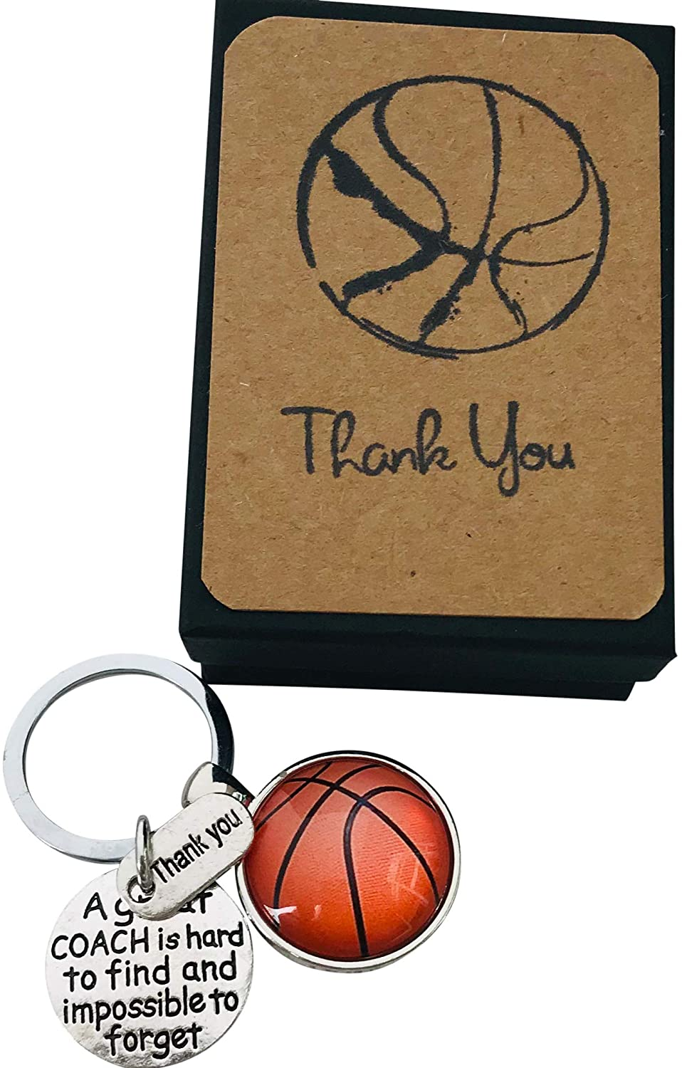 Unique Handmade Basketball Coach Appreciation Gift Key Chain with Basketball Gift for Your Coach