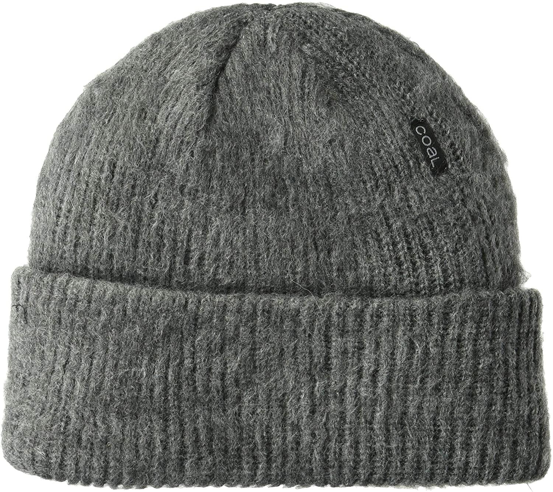 Coal Mens The Scotty Rib Knit Distressed Beanie Hat