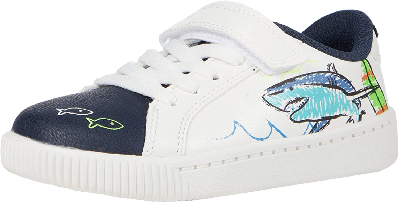Carters Kids Flagger 1 Strap Hook and Loop Slip on Casual Shoe Sneaker