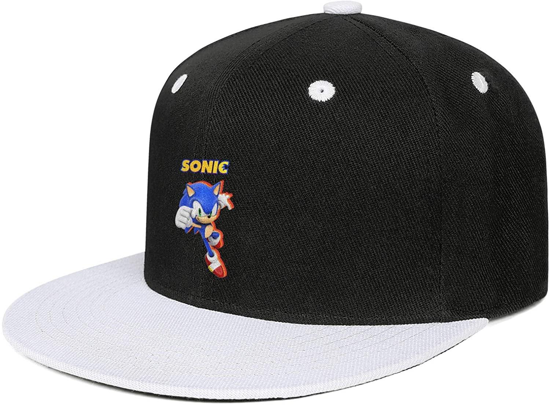 LunchBaggg Mens Guys Peaked Cap Sonic-The-Hedgehog-Poster-Design- Cute Unisex Travel Cap