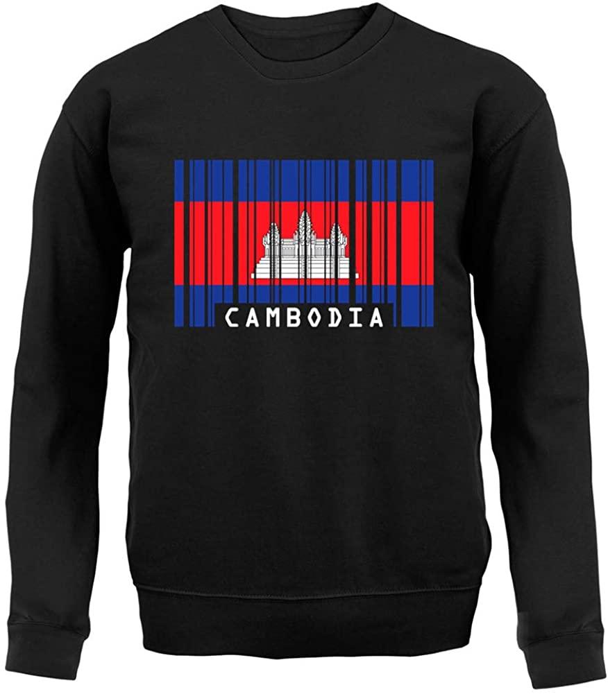 Dressdown Cambodia Barcode Style Flag - Unisex Crewneck Sweater/Jumper