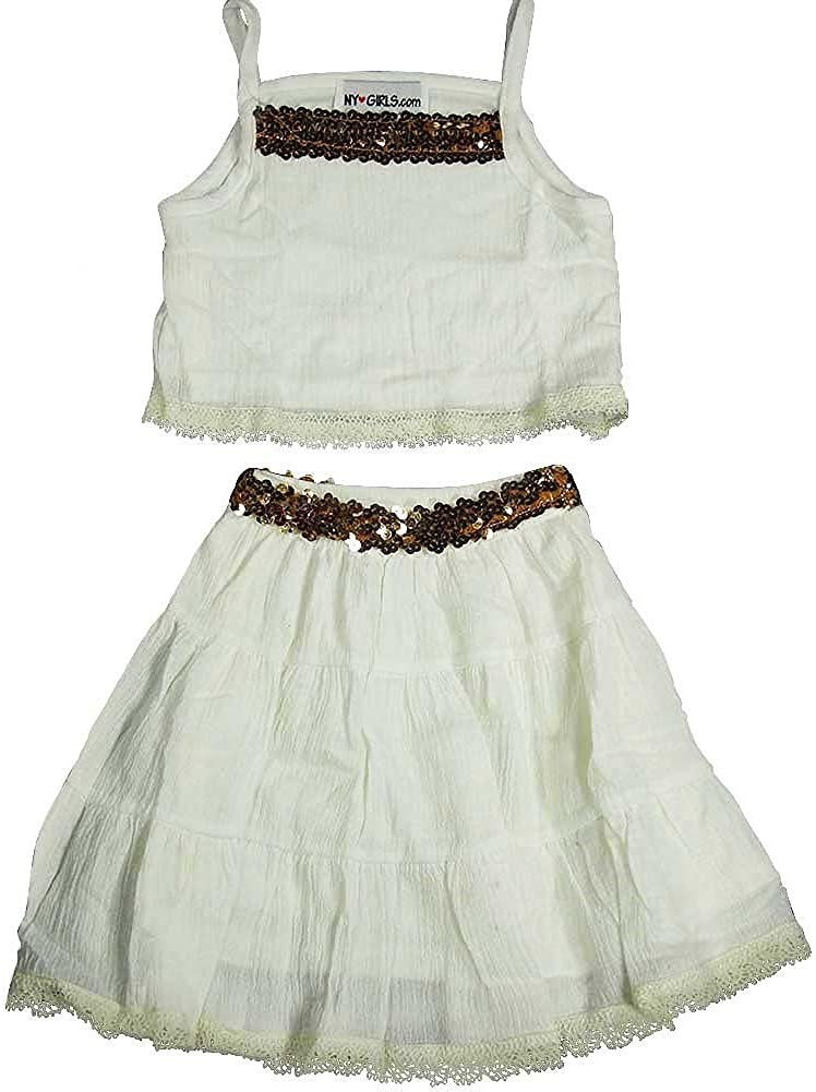 NY Girls.com - Little Girls' Crepe 2 Piece Skirt Set