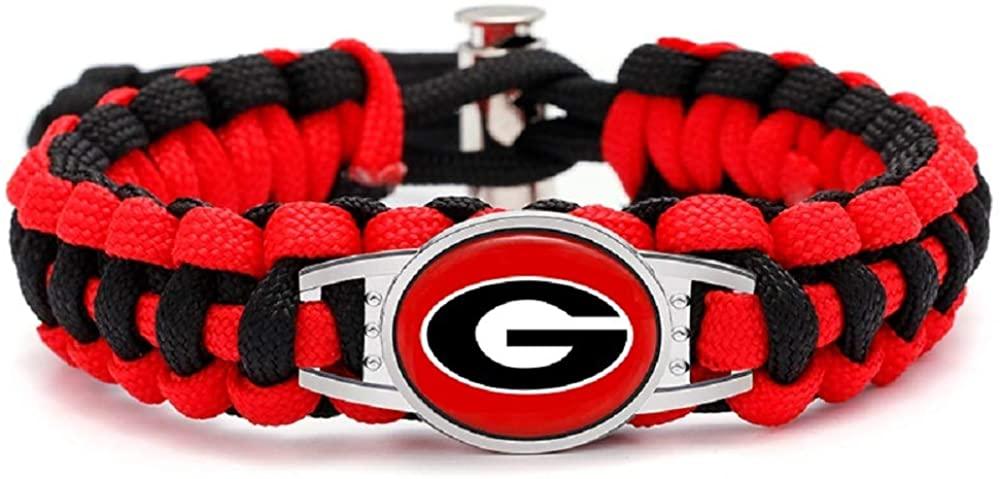 Swamp Fox Premium Style Georgia Bulldogs Football Team Adjustable Paracord Survival Bracelet