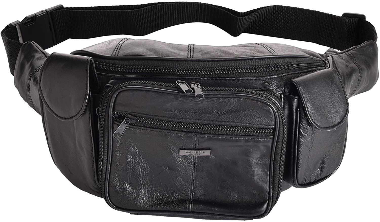 Super Soft Large Leather Organiser Waist Bag/Bumbag/Fanny Pack