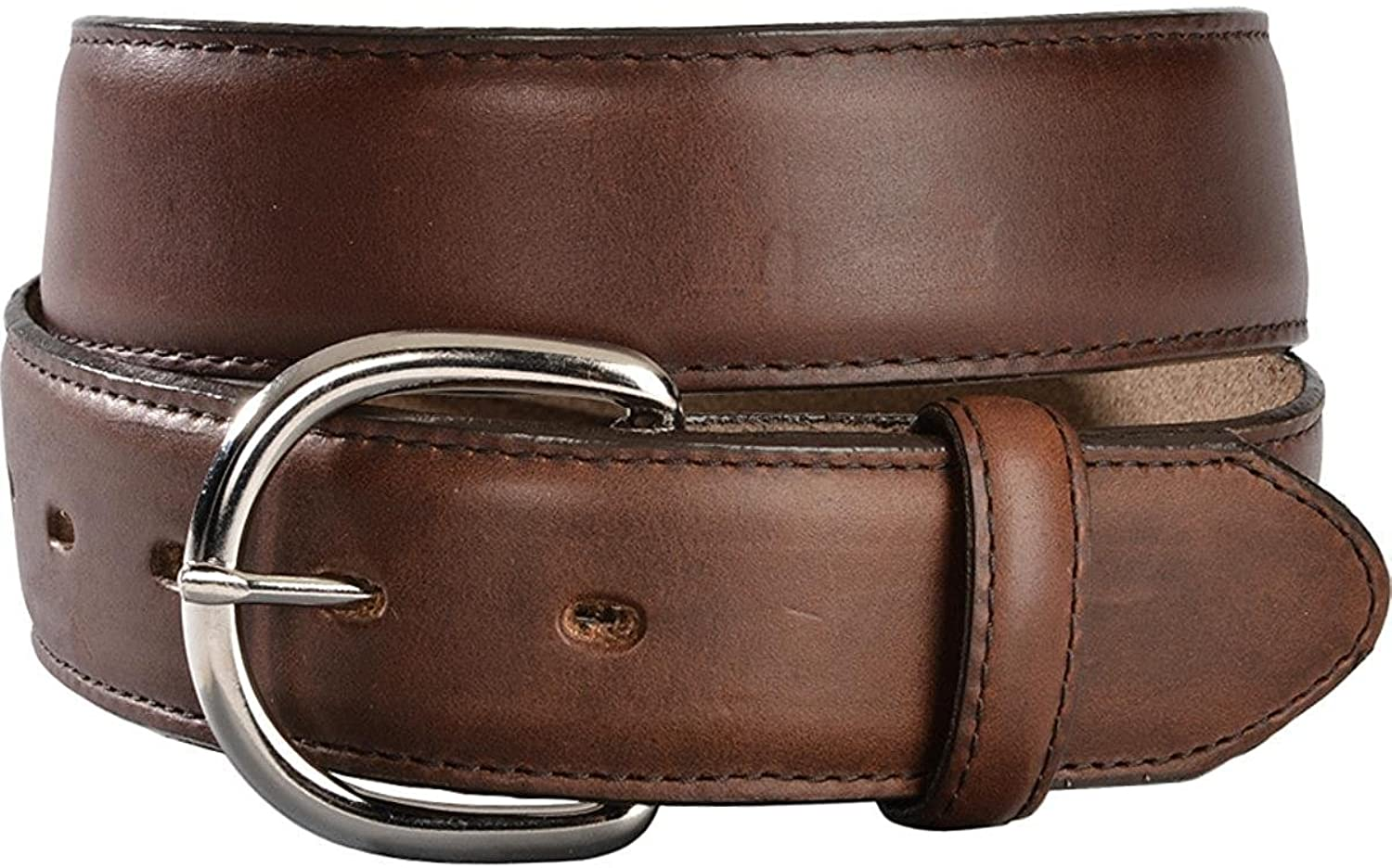 Silvercreek Mens Silver Creek Classics Oiled Western Belt Brown