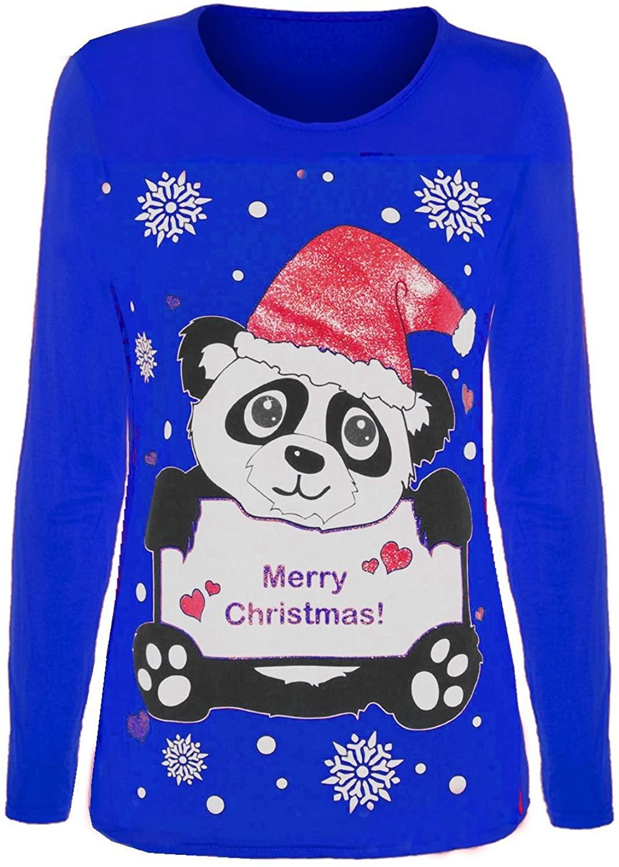 Unisex Childrens Kids Boys Girls Long Sleeves Novelty Christmas Penguin Minion Olaf Jersey T Shirt Top