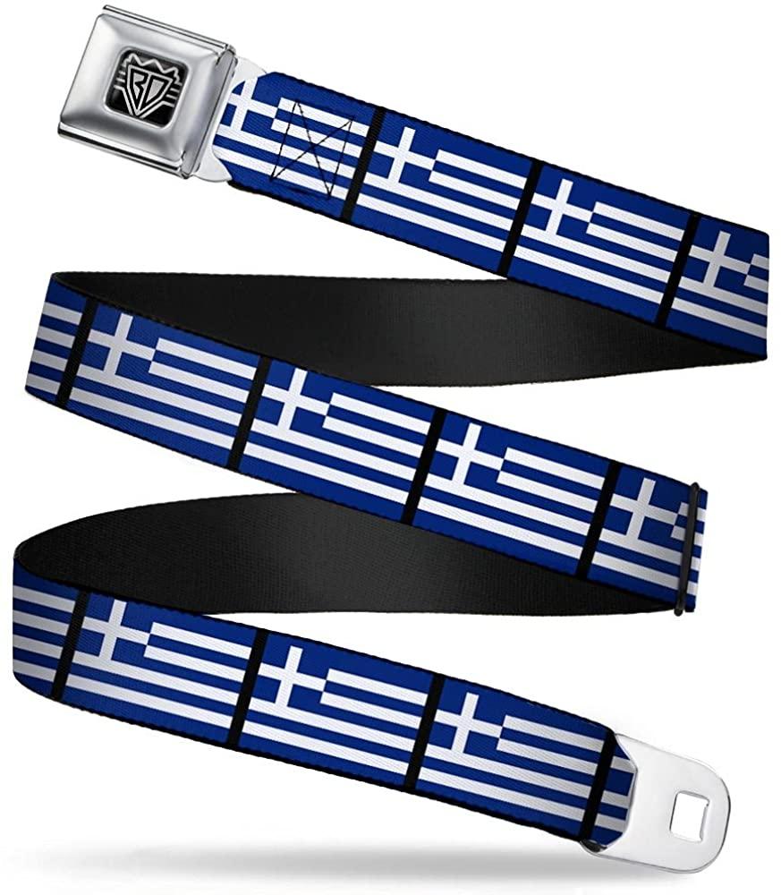 Buckle-Down Seatbelt Belt - Greece Flags - 1.5