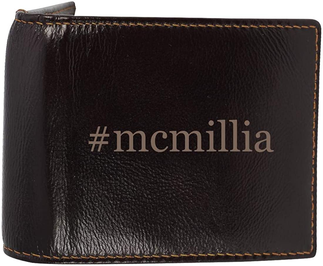 #mcmillia - Genuine Engraved Hashtag Soft Cowhide Bifold Leather Wallet