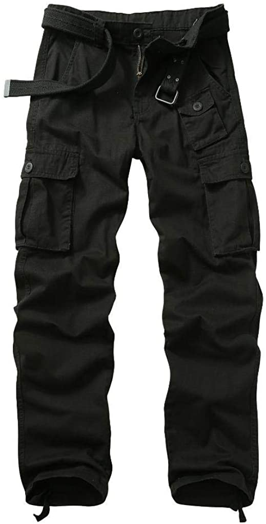 AKARMY Men's Wild Cotton Casual Military Army Cargo Combat Work Hiking Cargo Pants with 7 Pockets