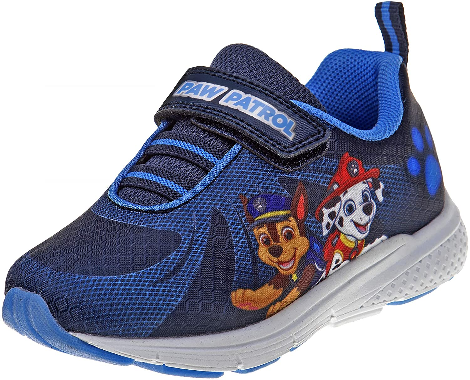 Josmo Boys Paw Patrol Lightweight Sneaker with Easy Strap Closure, Navy/Royal Blue, Size 6 Toddler