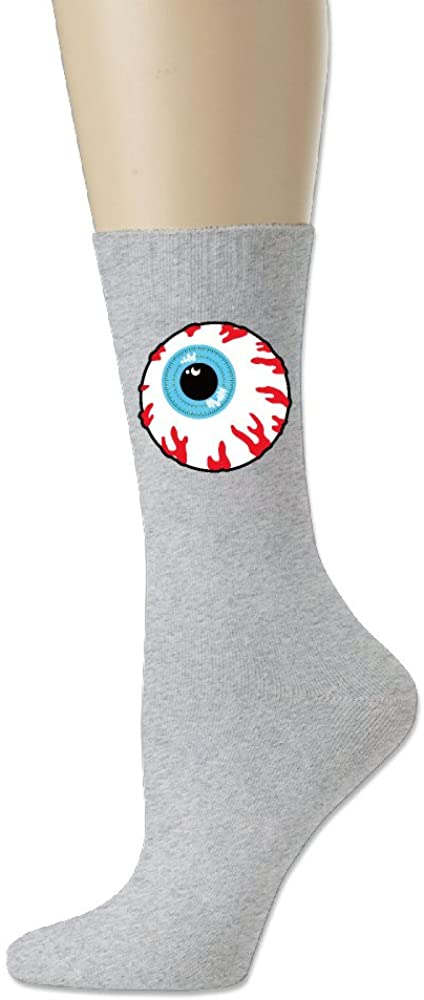 Asenra Keep Watch Skull Eyeball Logo Athletic Crew Socks