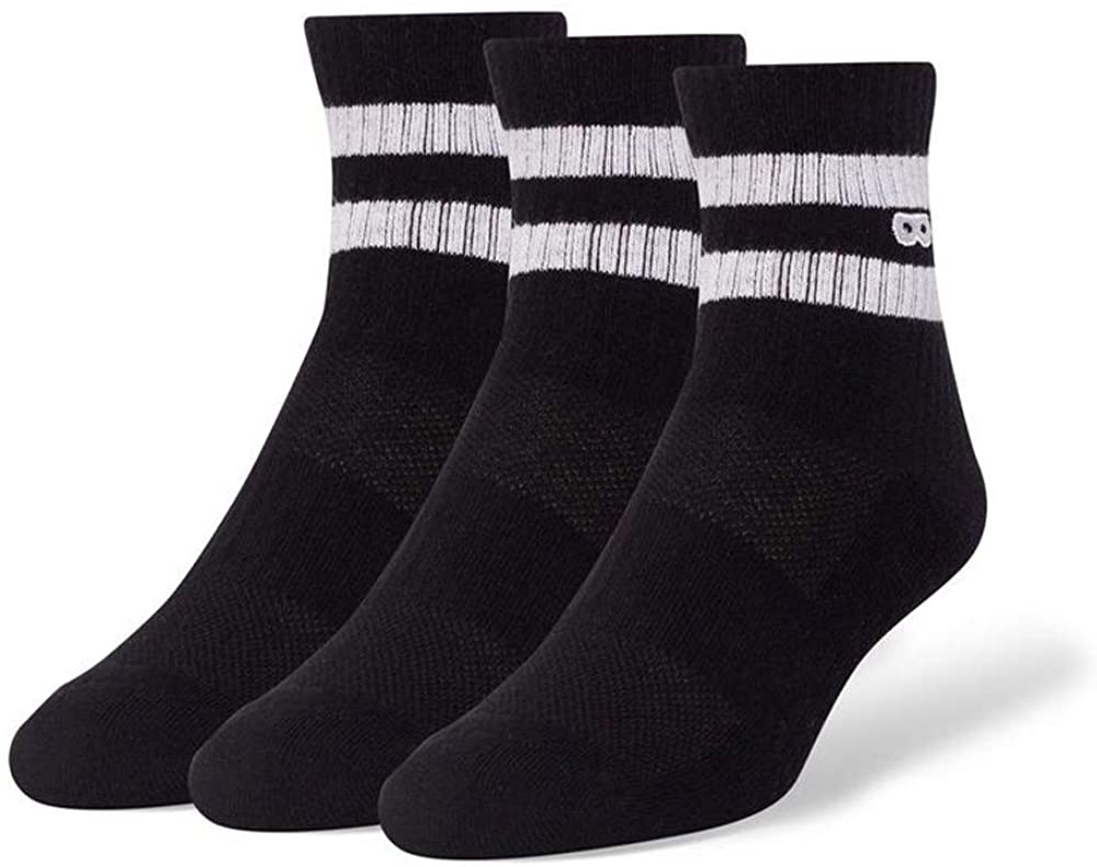 Pair of Thieves Men's 3 Pack Striped Casual Cushion Ankle Socks | Help Give Socks To Those in Need | Ready For Everything
