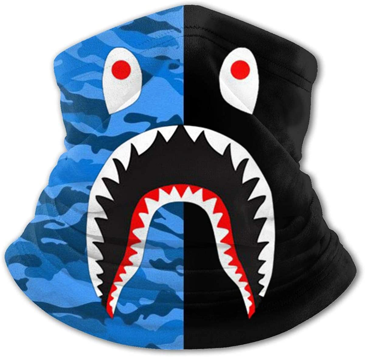 Bape Blood Shark Youth Face Mask Bandanas Neck Gaiter Headband Boy Girl Scarf Balaclava for Cycling Hiking Sport
