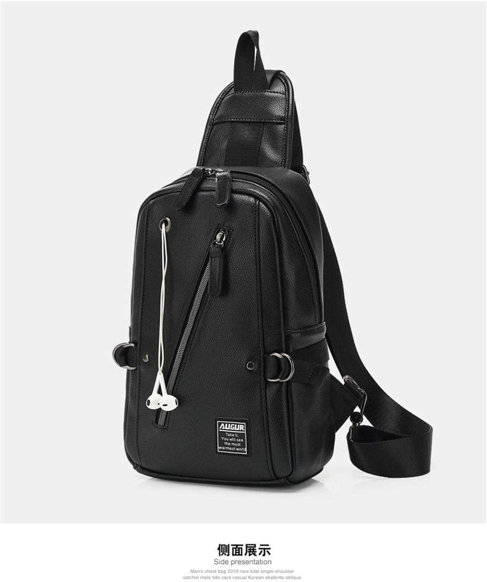 New Men's Bag Trend Small Chest Bag Korean Casual Men's Waist Bag Cross Arm Outdoor Single Shoulder Bag Design Fashion Temperament Calm