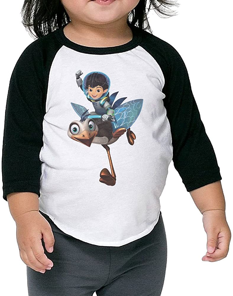 Kid's Miles from Tomorrowland Toddler Boy's Girl's 3/4 Sleeve Blended T-Shirt 100% Cotton
