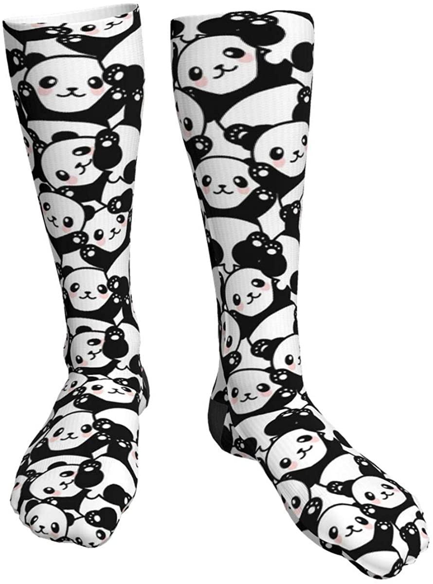 Unisex Casual Socks, Cute Panda Animal Athletic Socks Compression Crew Socks 50cm Long Socks