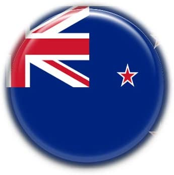 New Zealand : National Flag, Pinback Button Badge 1.50 Inch (38mm)