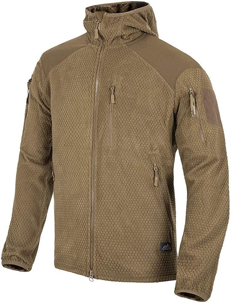 Helikon-Tex Men's Alpha Hoodie Jacket Grid Fleece Coyote