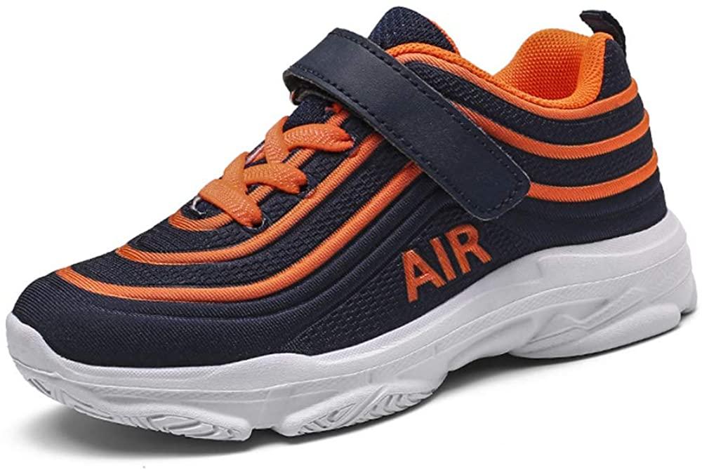 SPKIDS Kids Boys Girls Breathable mesh Sneakers Running Tennis Shoes