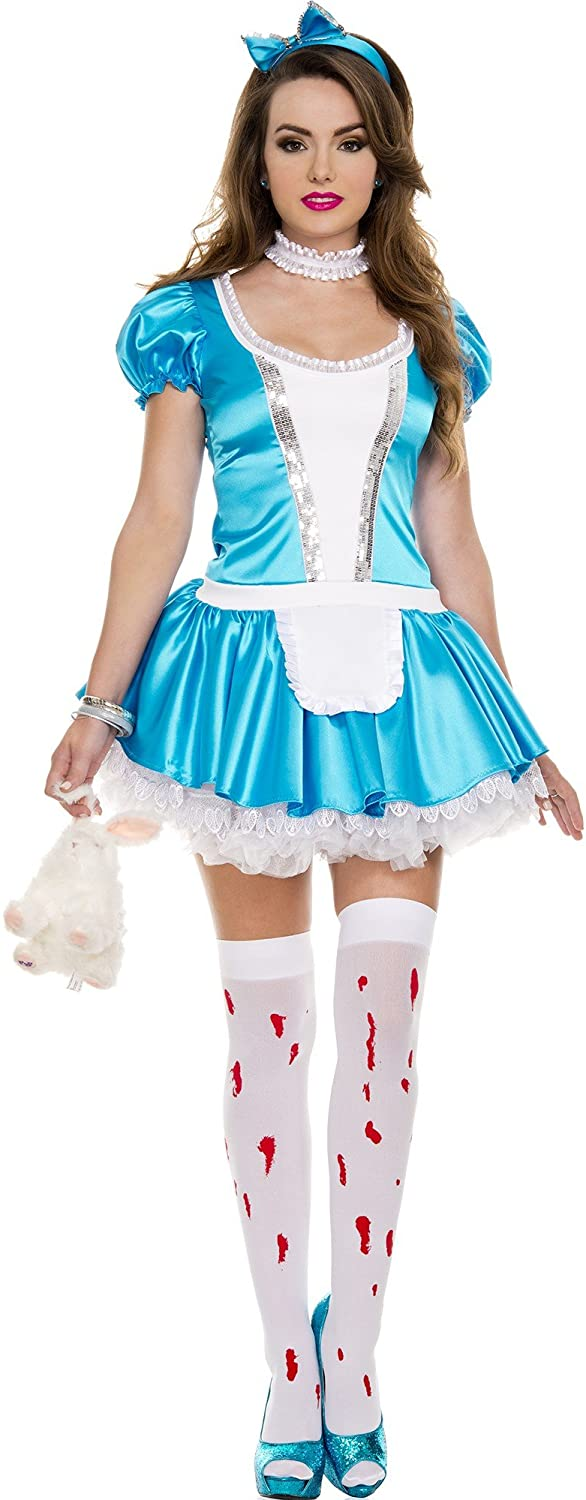 Music Legs Sequined Dress with Attached Apron