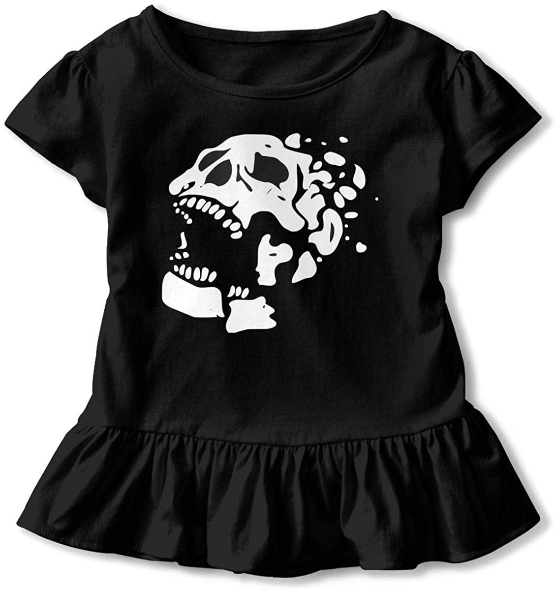 Dead-by-Daylight Toddler Girl's Ruffle T-Shirt Short Sleeve 2-6t
