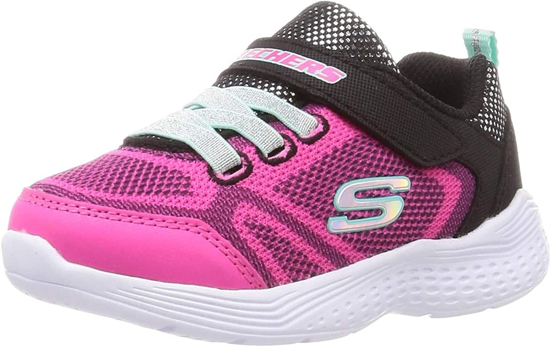 Skechers Kid's Snap Sprints Girls Cross Training Shoes Black/Multi 10.5 Little Kid